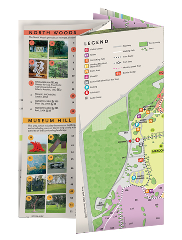 Storm King Art Center, Visitor Map 03