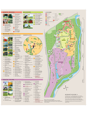 Storm King Art Center, Visitor Map 04