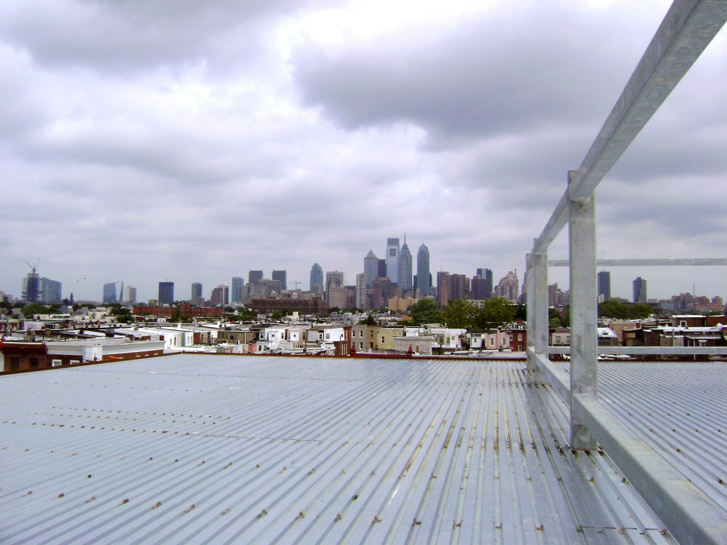 The roof superstructure is complete -- and offers a great view of Center City